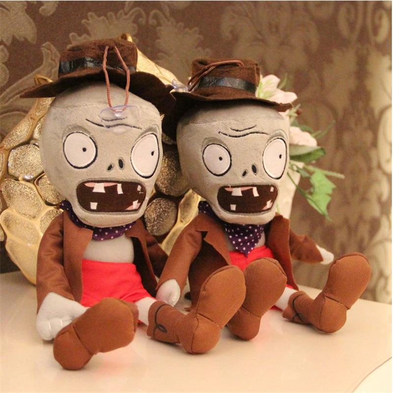 İsti satış 28cm Bitkilər vs Zombie Fiqurlu Oyuncaqlar Oyuncaqlarla təchiz olunmuş Peluş Doll Yaradıcılıq Hədiyyə (ördək zombi)