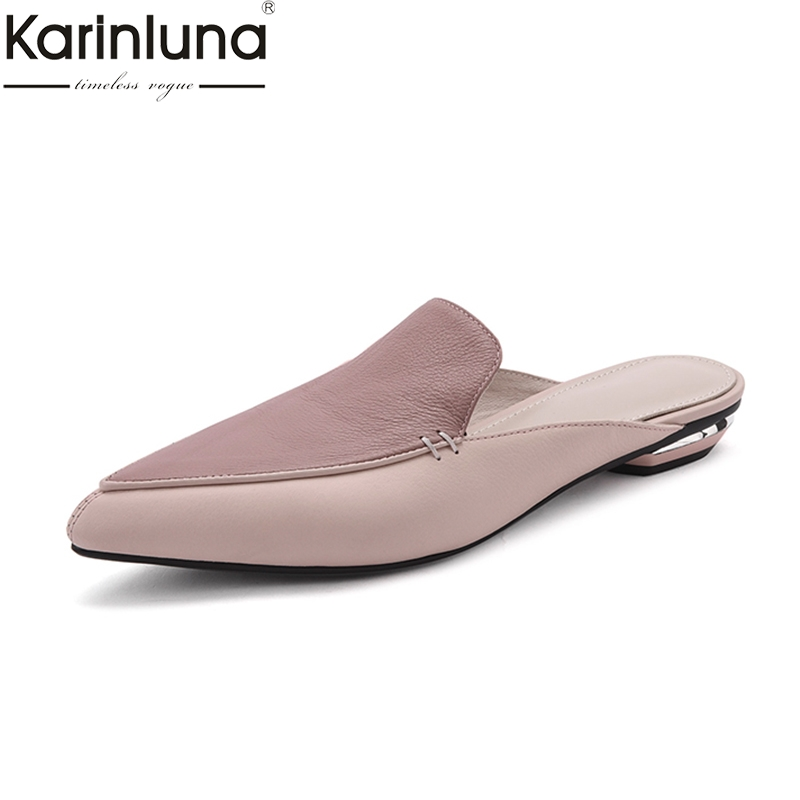 KarinLuna Ins Style 2019 Brand New Summer women s Elegent Genuine leather comfortable women s Shoes