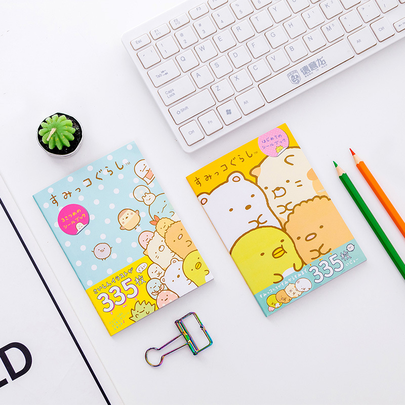 335 pcs/pack Kawaii Sumikko Gurashi Book Decorative Washi Stickers Scrapbooking Stick Label Diary Album Japanese Stickers 6 pcs pack japanese style decorative washi stickers scrapbooking stick label diary stationery album stickers