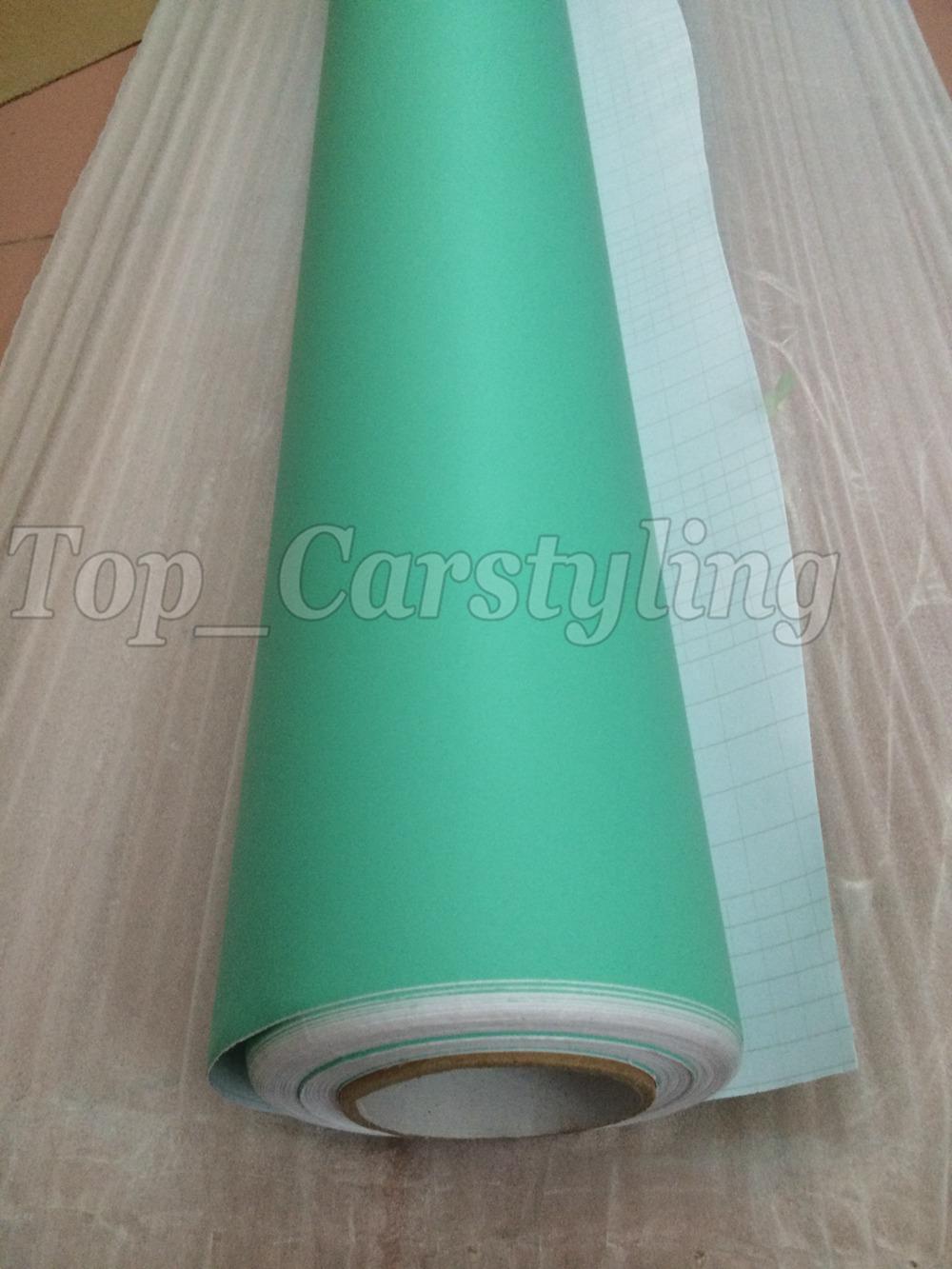 Matte tiffany blue mint green vinyl car wrapping film 3m satin white car wrap Film Foile (5)