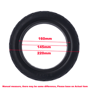 Image 2 - Xiaomi Electric Scooter Tires 8 1/2x2 Tubeless Wheel Tyres Solid Tyre Inflation Free for Xiaomi Electric Scooter Tyre Accessory