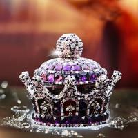 Car Ornament Fragrance Diamond Crystal Crown Shape Air Freshener Dashboard Decoration Auto Perfume Diffuser Accessories Gift