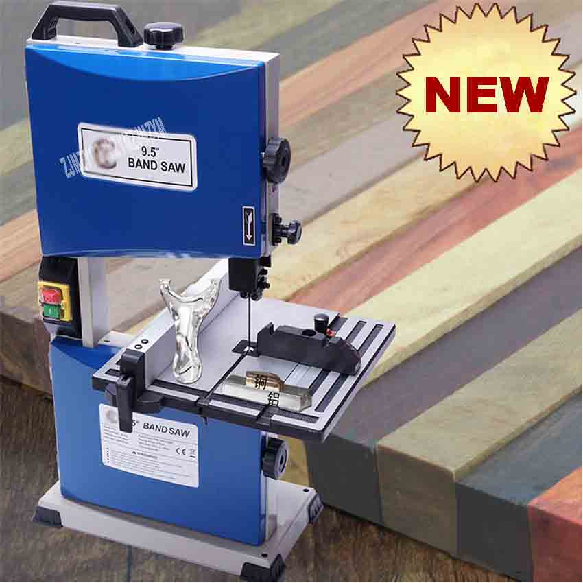 TC9S 9.5 inch Multifunctional Woodworking Band Saw Machine Small Curve Saw Beads Buddha Cutting Metal Band Sawing Machine 220V