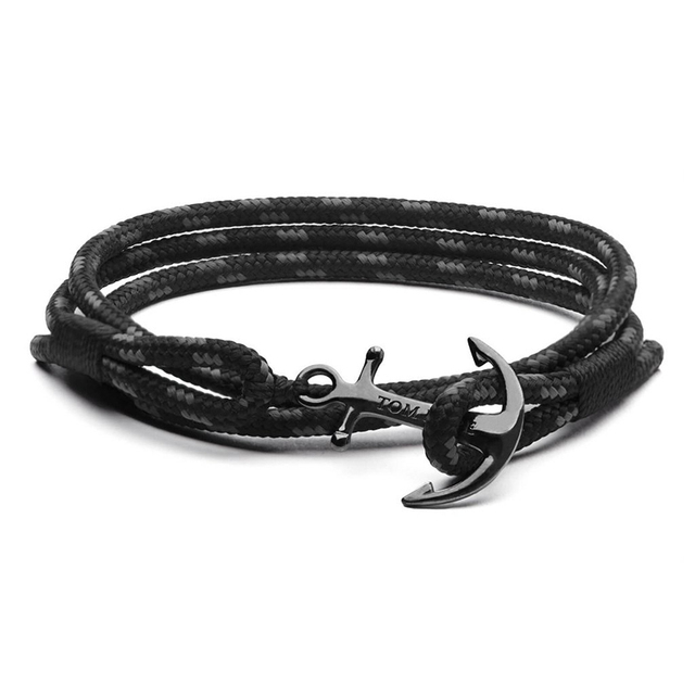 Mediterranean 17 Styles Navigation Stainless Steel Anchor Rope Bracelet Bangle With Box And Tag