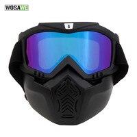 WOSAWE Fietsen Gezichtsmasker Fiets Sport Beschermen Fietsen Bril Masker Cover Beschermende Motorfiets Goggles Eyewear Schemering Masker