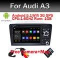 Свободная Камера + Карта Android 5.1 Автомобиль DVD GPS Для Audi A3 2002-2011 с Wi-Fi 3 Г GPS Навигации BT Радио Canbus управления Рулевого колеса
