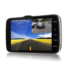 Udricare 4 inch Car Truck Vehicle DVR Full HD 1080P Dual Lens Dash Cam ADAS LDWS