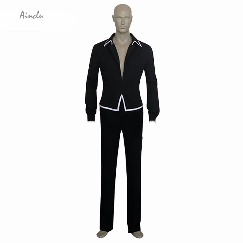 Ainclu Customize for adults Free Shipping New Black Fruits Basket Hatsuharu Sohma Cosplay Costume Shirt Pants Brand Costumes