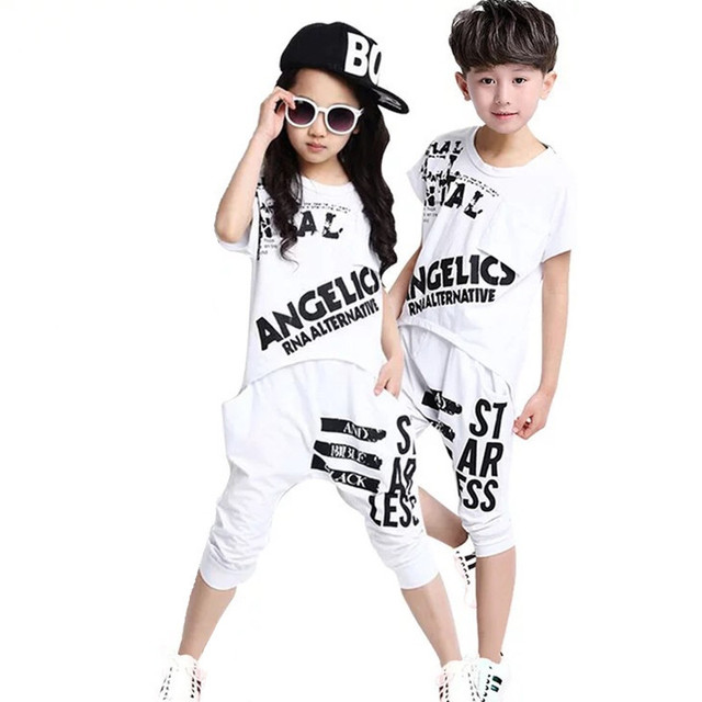 Summer Children Tops Tee + Pants Clothing Sets Toddler T Shirt Girls Set Boys Clothes Baby Tracksuit Kid Clothes Boy Suits