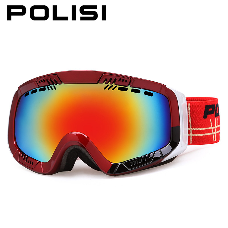 POLISI Winter Outdoor Ski Snow Goggles Double Layer Anti-Fog Lens Skiing Snowboard Glasses UV400 Men Women Snowmobile Eyewear polisi brand new designed anti fog cycling glasses sports eyewear polarized glasses bicycle goggles bike sunglasses 5 lenses