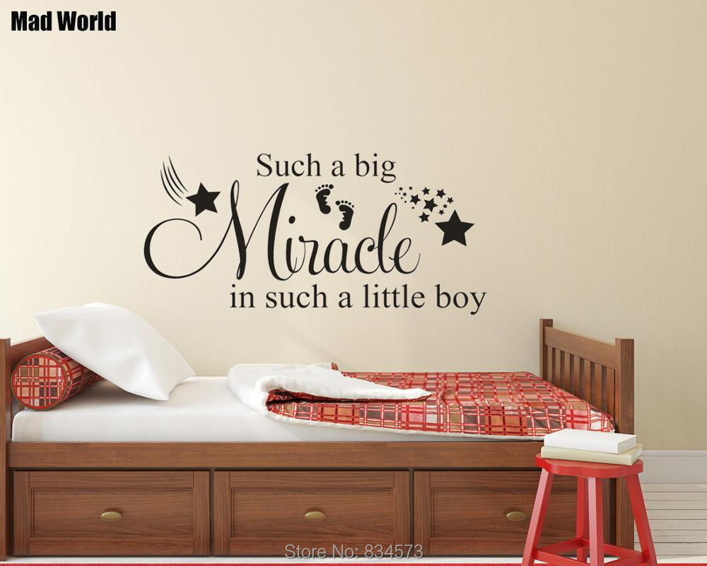 Baby Boy//Girl Nursery Vinyl Wall Art Decal Sticker Such A Big Miracle ..