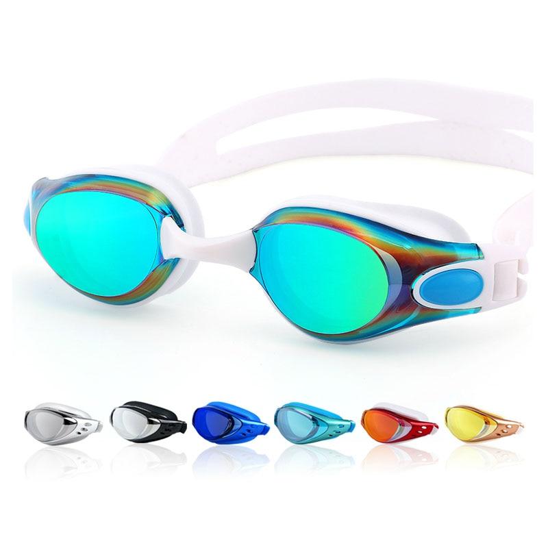 Плавательные ming очки для близорукости мужские и женские мужские анти-туман по рецепту Водонепроницаемые силиконовые очки для бассейна для ...