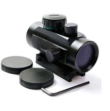 1X40 Tactical Holográfica Red Green Dot Sight Rifle Scope Para 11mm/20mm Picatinny/Weaver montaje Mira Óptica Alcance Red Dot Scope