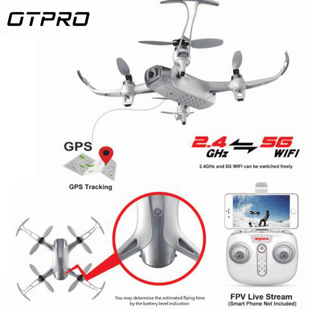 SYMA WI 5G 1080P Camera WiFi FPV RC Drone GPS Optical Flow Positioning Altitude Hold Follow RTF RC Quadcopter Brushless Version