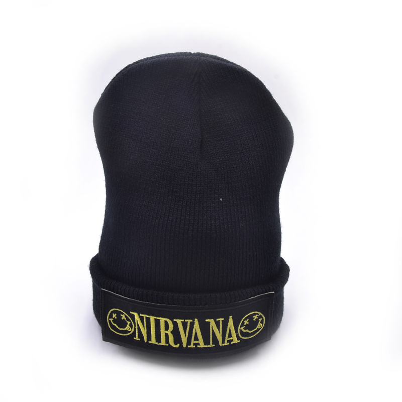 NIRVANA band Winter Hats Solid Hat Female Unisex Plain Warm Soft Women's Skullies Beanies Knitted Touca Gorro Caps For Men Women 2017 unisex solid plain warm skullies beanies knitted touca gorro autumn winter caps hip hop slouch skullies for men women