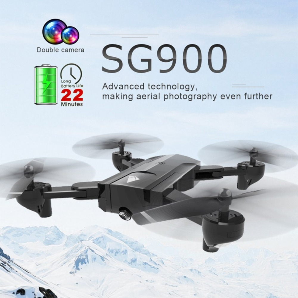 SG900 Foldable Quadcopter 720P Drone Quadcopter WIFI FPV Drone GPS Optical Flow Positioning RC Drone Helicopter Toy With Camera hr sh2hg rc drone fpv quadcopter headless mode optical flow positioning rtf helicopter selfie with 1080p wifi camera