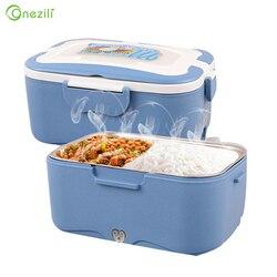 Caixa aquecida portátil 12 v/24 v/220 v do aquecedor de alimentos para o carro/caminhão caixa de almoço interna elétrica do potenciômetro do aço inoxidável conjunto