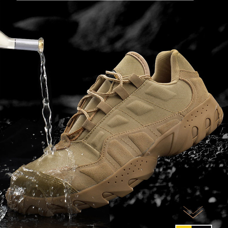 Golden Sapling Mens Hiking Shoes Breathable Mountain Tactical Boots Military Trekking Sneakers Men Waterproof Outdoor Shoes