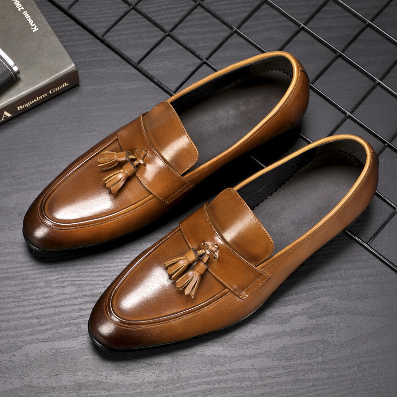 Men 39 s Leisure Business real Leather Shoes all match cowhide men dress shoes spring autumn summer mens formal shoes oxford shoes in Formal Shoes from Shoes