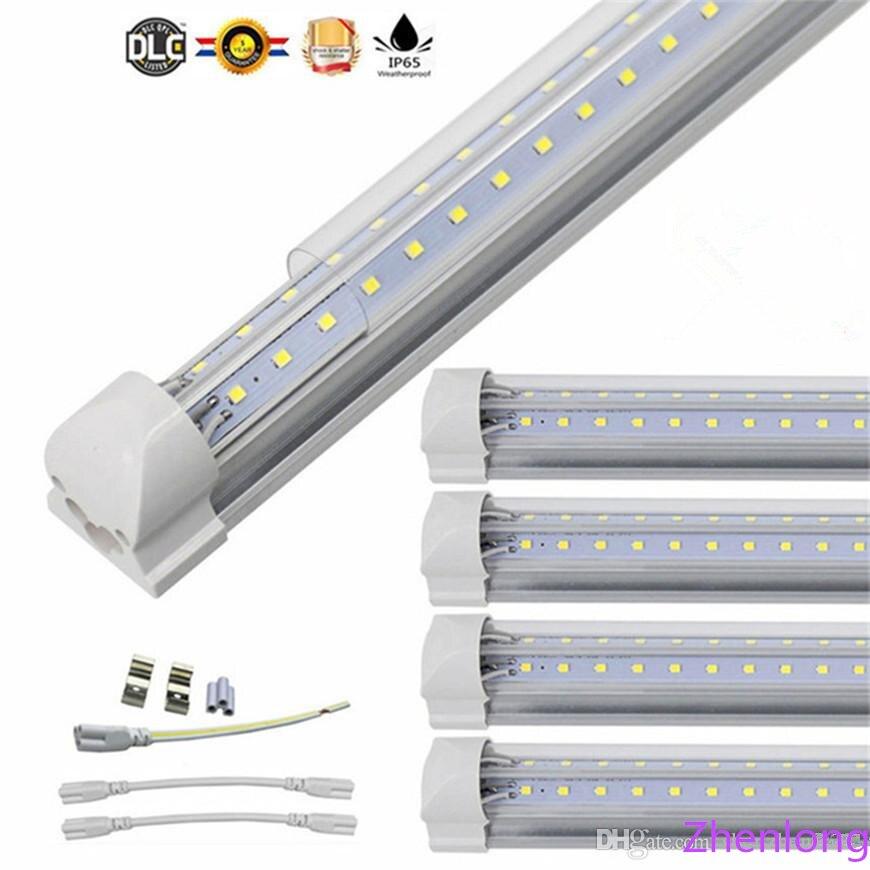 Us 223 48 26 Off T8 V Shaped 8ft Led Tube Lights Integrated 2ft 3ft 4ft 5ft 6ft 8 Foot Cooler Door Lighting Double Row Shop Lights Tubes Fluoresc In
