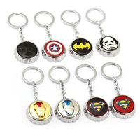 8pcs Lot The Avengers Series Super Hero Bottle Opener Keychain Fashion Keyring Deadpool Iron Man Bottle