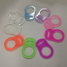 Baby Dummy Pacifier Holder Clip Adapter for MAM Ring Silicone Button(China)