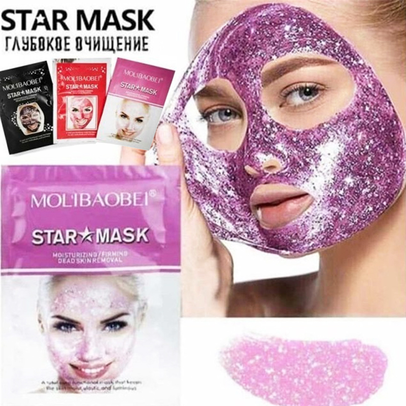 Starry Mask Face Cleaning Blackhead Removal Facial Mask Star Peel Off Black Face Mask Water Replenishing Firming Anti Aging Mask