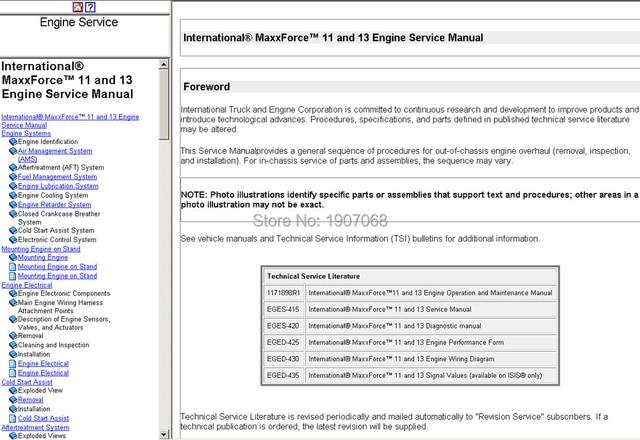 Internationale lkw handbücher und diagramme in Internationale lkw ...