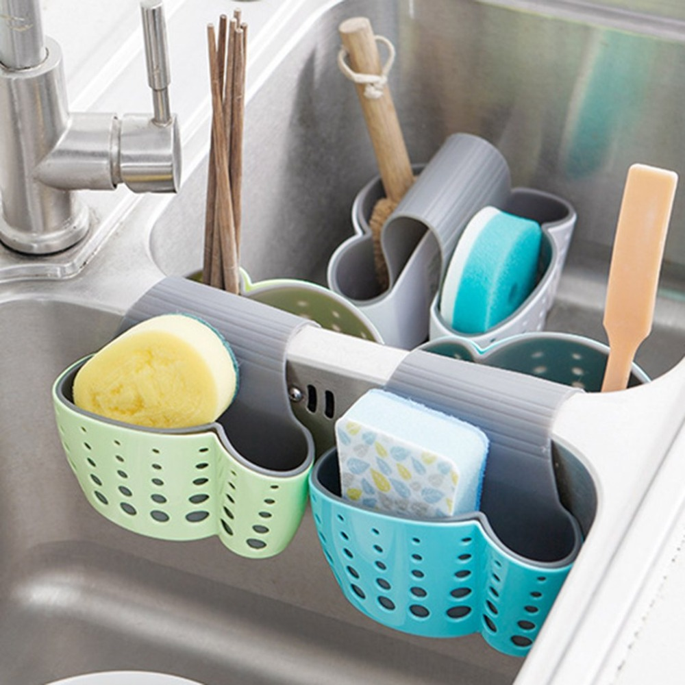 Organizer Saddle-type Sink Kitchen Holders Multi-purpose Debris Drain Bag Cutlery Basket Storage Container Racks