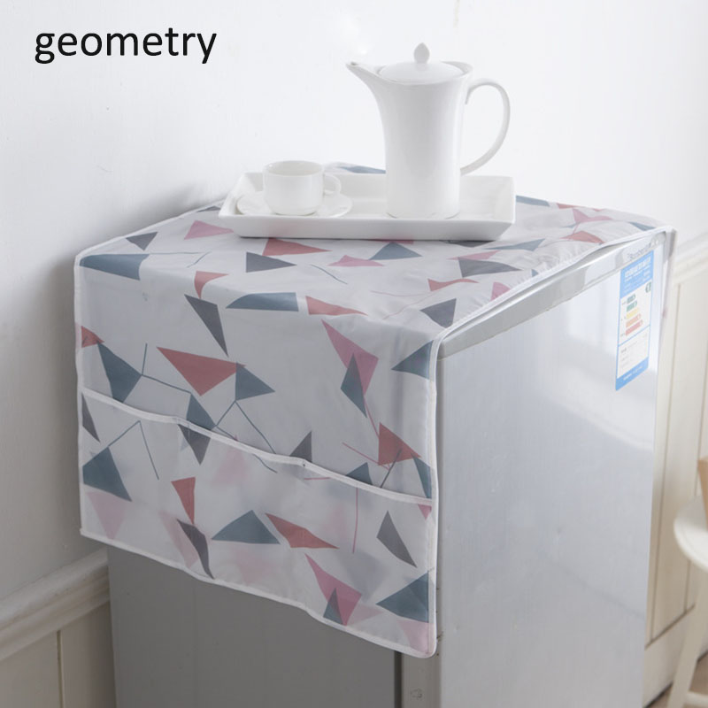 1Pcs Refrigerator Cover Dust Cover 130*55cm Storage Finishing Bag PEVA Freezer Top Waterproof Home Kitchen Products image