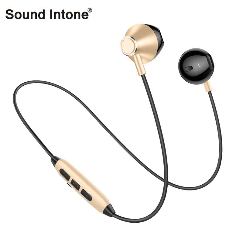 Sound intone H2 Lightweight Sport Bluetooth Headphones Sweatproof Wireless Earphone With HD Mic Support 2 Devices for iphone MP3