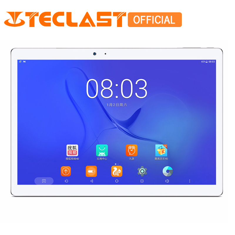 Teclast T10 Android 7.0 MT8176 Hexa Core 4 gb RAM 64 gb ROM 8.0MP + 13.0 MP HDMI Capteur D'empreintes Digitales 10.1 2560*1600 Tablet PC
