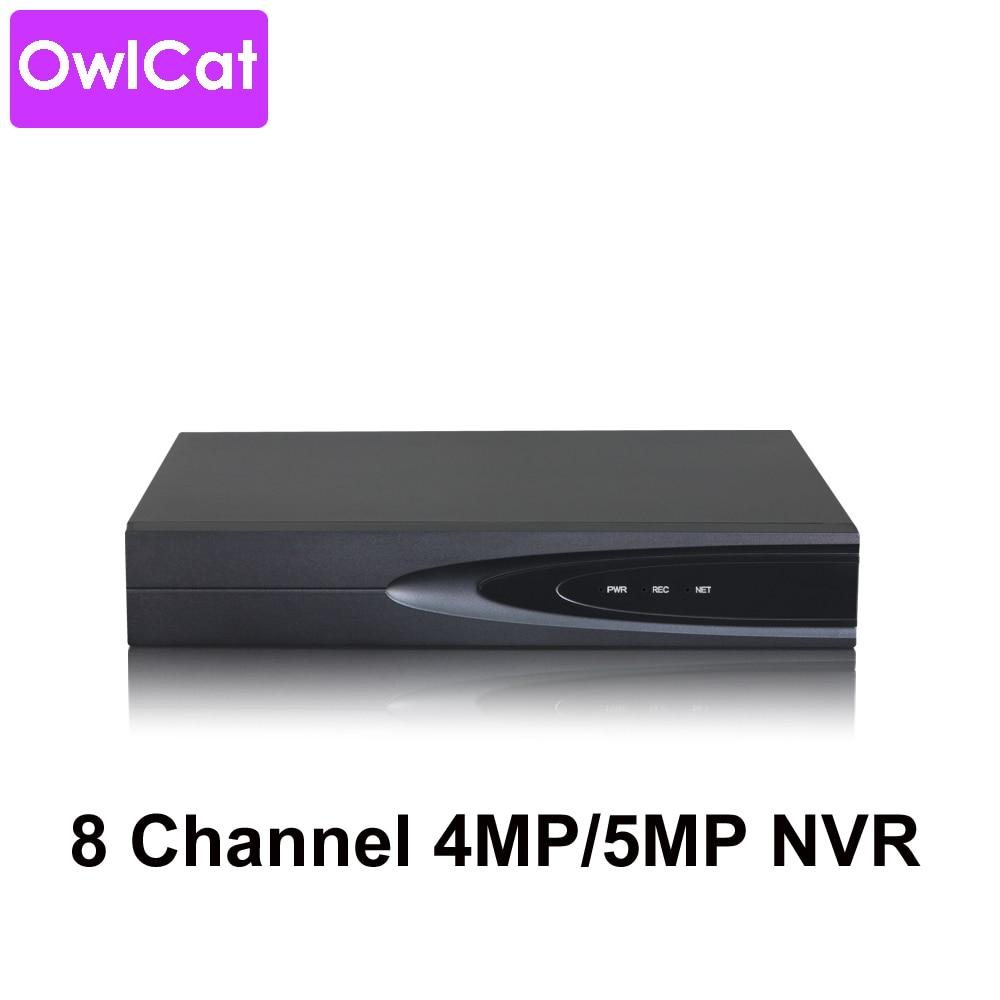 OwlCat 8CH 16CH H 265 XMEYE Cloud P2P Network Video Recorder HD 1080p 4MP 5MP NVR