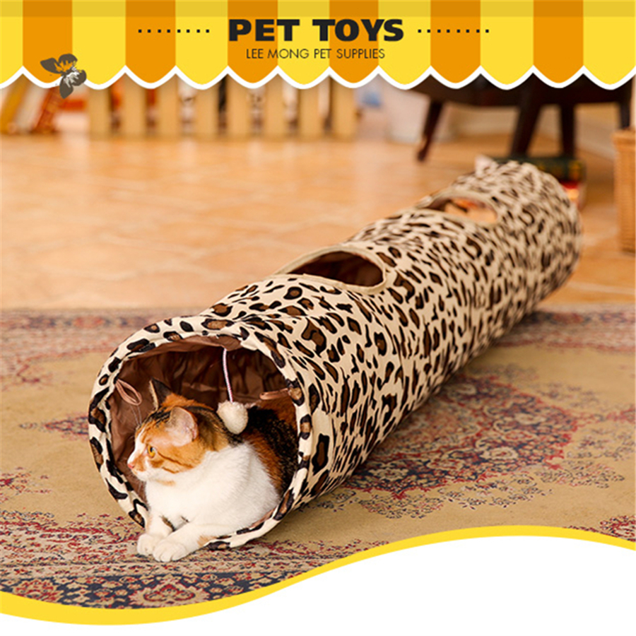 Kitten Pet Products Cat Tunnel Funny Tunnel Supplies For Cat Kitten Gatos Interesting Durable Pets Game Play Toys QQM2240