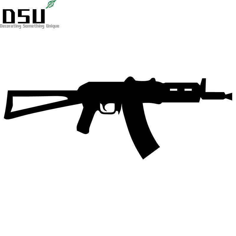 18 40 De Descuento22883 Cm Rifle De Asalto Corto Ruso Ak 47 Pegatinas De Vinilo Calcomanías De Pared De Motocicleta In Papeles Pintados From