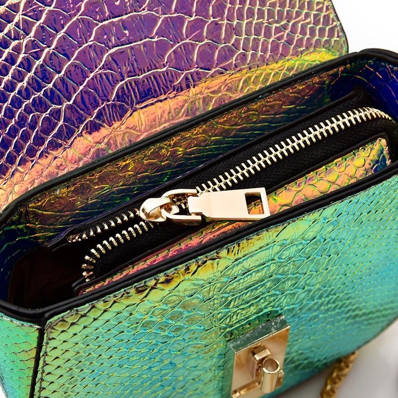 bolsa mulheres bolsas atravessadas cadeia Hologram Laser Bag : Holographic Laser Bag