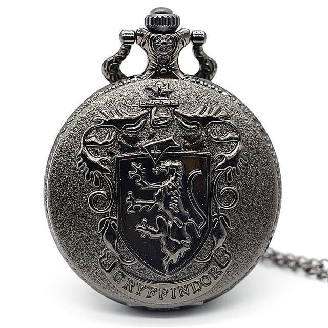 Antique Steampunk Black Berlin Germany Theme Bear Quartz Pocket Watch Necklace C