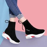 MYCORON 2018 носок сапоги и ботинки для девочек женские осенние Удобные Женская повседневная обувь дышащие удобные женские носки до лодыжки сапо