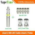 Original eleaf ijust 2 vape kit 2600 mah bateria 5.5 ml e cigarro ijust 2 kit w/5 pcs cabeça bobina 2 pcs ijust eleaf ce 2 tubo