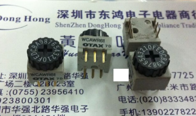 5PCS/LOT OTAX 0-F/16 bit rotary dial switch, WCAWR61 encoding switch, positive code pulley, 3:3 pin