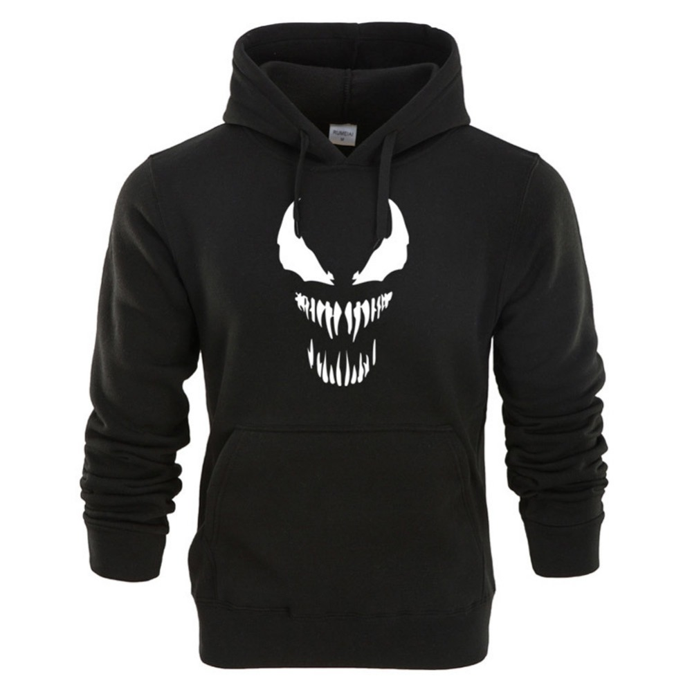 Venom Hoodie Sweatshirts Anime Superhero Black Gray Autumn Winter Casual Hoody Hoodie