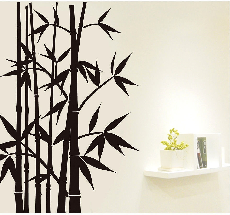 Home Decor Wall Sticker Wall Art Removable Decoration Mural Decal Black  Bamboo 60X90CM Vinyl Wall Decals Part 42