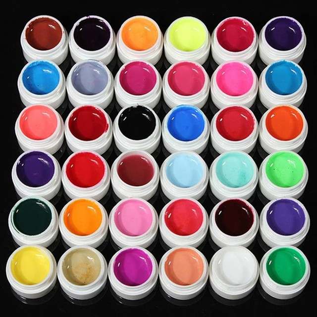 Hot Sale 36 Pure Color Decor UV Gel Nail Polish Excellent Nail Gel Manicure Profession Makeup Tools #NP137