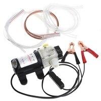 12V 45W Car Electric Oil Diesel Fuel Extractor Transfer Pump With Crocodie Clip Pumps R06 Drop