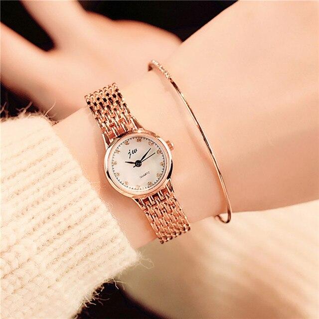 Fashion Women's Quartz Bracelet Watch Women Dress Watches Ladies Silver Casual W