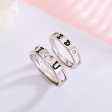S925 Sterling Silver Couple Ring I Love You A Lifetime of Simple Retro Men and Women To Quit Silver Jewelry(China)