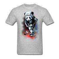 Panda hocke' bóng máy nghe nhạc tuyệt vời t-shirt người đàn ông trắng kích thước xl toilette art t shirt galaxy hockees cho đẹp trai người giá r
