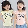 2016 Verão Vestuário Infantil T-Shirt Impressão Básica Criança Do Sexo Feminino Bebê Menina Curto-Sleebow