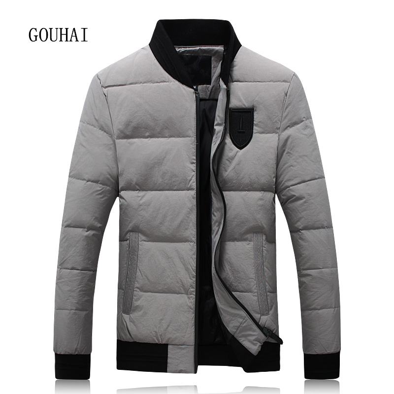 Winter Jacket Men White Duck Down Jacket Men 4XL 5XL Solid Warm Thicking Plus Size Short Coat Man Feather Jacket Men Parka Homme