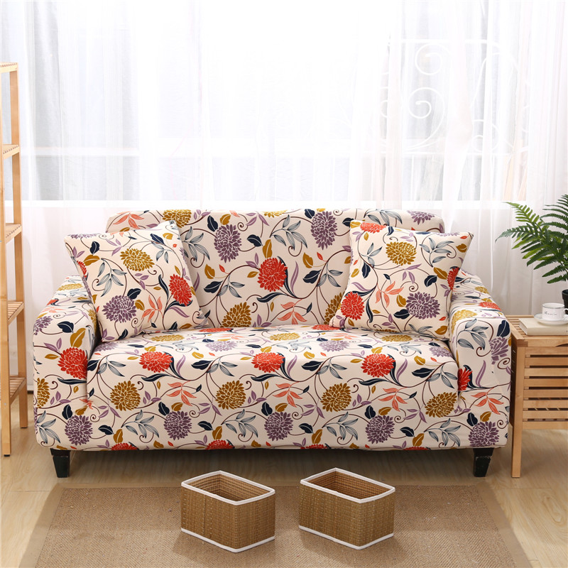 Anti Static Universal Sofa Cover Floral Designer Sofa Slipcovers For Single  Double Three Four Seater